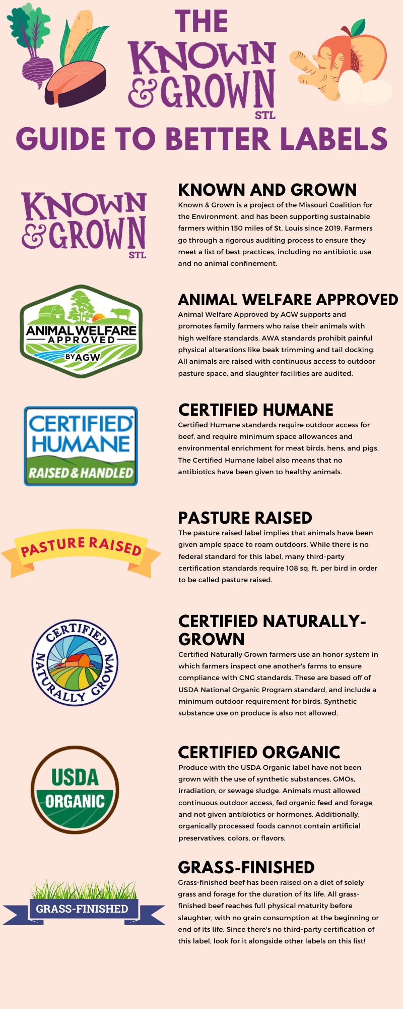 Guide to better food labels