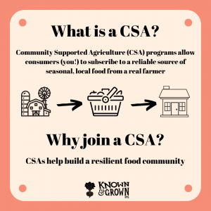 explainer on the benefits of joining a CSA