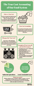 infographic explaining why cheap food is really very expensive